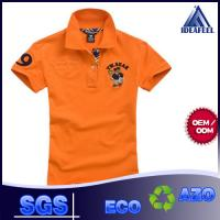 China Short Sleeve Mens Patterned Polo Shirts With 92% Polyester 8% Spandex on sale