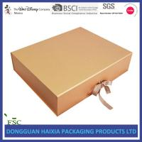 Ribbon Closure Folding Gift Box , Cardboard Gift Boxes Huge Capacity For Apparel Manufactures
