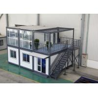 Gray Residential Prefab Container House Comfortable 6000mm * 2438mm * 2891mm Manufactures