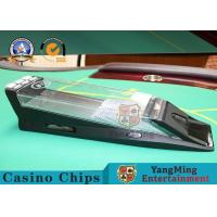 Automatic Casino Card Shoe With Black Casino 1 - 8 Decks Customized Logo Manufactures