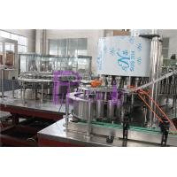China Polygon Pure Water Filling Machine With Streamline Dial Wheel And Low Gravity on sale