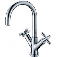 Ceramic Solid Brass Two Cross Handle Kitchen Faucet Cold And Hot Water Tap Manufactures