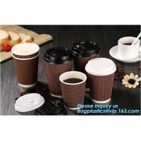 Customized Logo Printed 8oz Double Wall Paper Cup For Hot Drinks,Disposable_PE Coated Custom Paper Cups_ Paper coffee Cu Manufactures