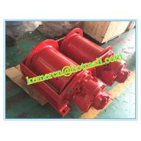 China custom designed double drum hydraulic winch with pull force from 1- 100 ton on sale