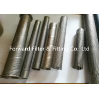 Punching Automotive Perforated Exhaust Tubing , Water Treatment Perforated Filter Tube Manufactures