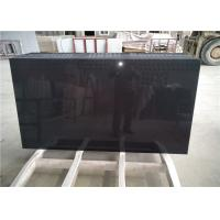 Pure Black Quartz Table Top Anti - Scratch Jumbo Size 40  For Living Room Table