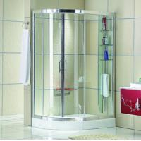 Automatic Curved interior Home frosted glass frameless shower doors