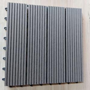 Anti Ultraviolet Wood Plastic Composite Flooring , Durable Co Extrusion PE Floor For Exterior Manufactures
