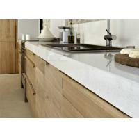 Customized Stone Prefab Kitchen Countertops Island Edge Polished Manufactures