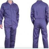Mens Summer Flame Retardant Insulated Coveralls Dark Blue TC Twill Midleweight Manufactures
