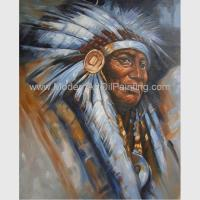 Impression Human Portrait Painting Tribal Leaders Handmade On Canvas Manufactures