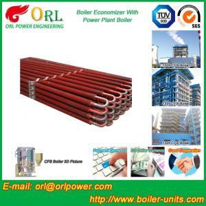 Power Plant CFB Boiler Economizer Silver Boiler Spare Part For Petroleum Industry Manufactures