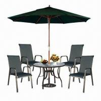 6-piece Bistro Set, Includes Textilene Chairs, Parasol and Table Manufactures