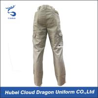 China Middle East Beige Security Guard Pants For Men / Police Cargo Pants Poly Cotton Canvas on sale