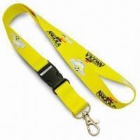 2cm Wide Popular Promotional Lanyard with Nickel-plated Metal Snap Hook, Made of Polyester Manufactures