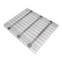 China 50*100mm Wire Mesh Decking Steel Pallet Rack Decking With 3 Support Bar on sale