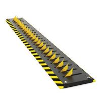 Residence Remote Control Parking Bollards , Tyre Killer Barriers Black Reflective Film Manufactures