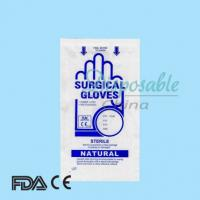 China Dental hospital equipment EN455 ASTMD CE ISO disposable powdered latex surgical gloves on sale