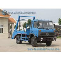China Dongfeng 7 - 8 Tons Trash Trucks 4x2 Swing Arm Dual Axles 145 cab on sale