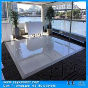 China RK restaurants illuminated dance floor black and white dance floor removable dancing floor on sale