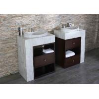 China Double Solid Surface Countertops , Marble Vanity Tops Surface Polished on sale