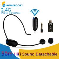 China 2.4Ghz wireless portable rechargeable Microphone with separate Transmitter and receiver 3.5mm to 6.5mm convertor on sale