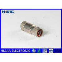 1/2 Coaxial Cable Male Antenna Connector With Threaded Fastening Plug / Male Pin Connector Manufactures