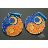 China Zinc Alloy Material Metal Award Medals Eight Diagrams With Sun And Moon Logo on sale