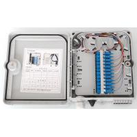 China Outdoor FTTH Fiber Optic Waterproof 12 Cores Ftth Termination Box ABS Material on sale