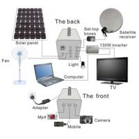 100W 60AH Solar power home system  for TV/ Satellite receiver , lighting,fan for africa Manufactures