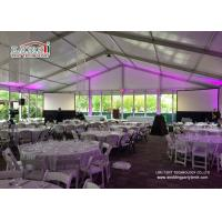 Commercial Outdoor Glass Wall  Event Tents Catering Rental Tent Roof Linning Manufactures