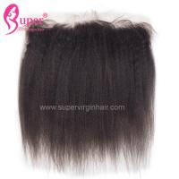 China Kinky Straight 13x4 Lace Frontal Closure Sew In Weave Virgin Hair Weaving Afro Style on sale