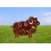 Cute Sheep Animal Corten Steel Sculpture As Garden Decoration OEM & ODM Custom Manufactures