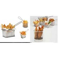 Mini Perforated Baking Tray Wire Mesh Deep Fat Fryer French Fries Holder Basket Manufactures