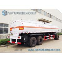 High Performance 20000L 3 Axle Train Oil Tank Trailer With Ellipse Shaped Manufactures