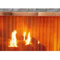China Stainless Steel Heavy - Duty Metal Wire Mesh Curtains For Fireplace Screen Systems on sale