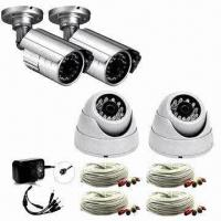 Night-vision CCTV Camera Kit with 4-camera Pack Includes 2x Weather-resistant IR/2x IR Dome Camera Manufactures