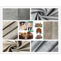 Customize Color Faux Suede Fabric For Clothing , 105D Stretchable Suede Fabric Manufactures