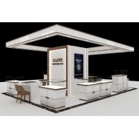 Quality Beautiful Looks White Jewelry Showcase Kiosk For Shopping Mall Display for sale