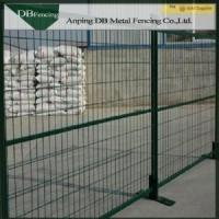 Powder Coated Steel Temporary Construction Fence 6'X10' Weather - Resisting Manufactures