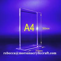 Top Grade Imported Material 3mm Clear Acrylic Table Tent Display Manufactures