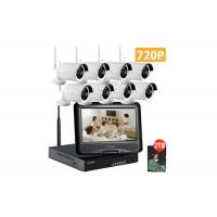 IP66 8 Camera Wireless Cctv Systems / 720p Wireless Cctv Kits For Home Security Manufactures