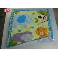 China Patterns Animals Personalized Baby Blankets Ashable Velour Baby Quilt Reversible Sherpa Backing on sale