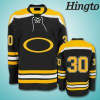 Personalized Sublimated Ice Hockey Jerseys , 220gsm polyester fabric Manufactures