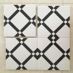 20*20cm Decorative Ceramic glazed Tile 8.5mm Intdoor For Walls / Floor Manufactures