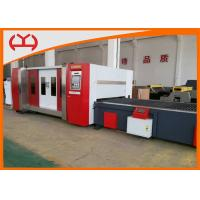 2000W Metal Fiber Laser Cutting Machine With Canopy / Auto Exchange Table Manufactures