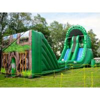 China Crazy Adult Inflatable Interactive Game Large Inflatable Zip Line With Repair Kit on sale