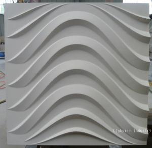 3d natural beige limeston feature wall art tile Manufactures