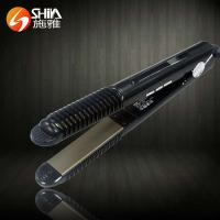 Quality professional 2 in 1 white black flat iron hair straightener and hair curler With LED/LCD display in china for sale