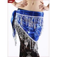 Royal Blue Plus Size Belly Dancing Hip Scarves With Fimbriate Tiny Paillette Manufactures